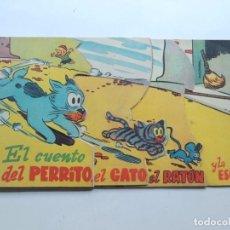 Libros de segunda mano: EL CUENTO DEL PERRITO, EL GATO, EL RATON Y LA ESCOBA / TROQUELADO / ED. MOLINO / 4 CUENTOS EN UNO. Lote 124529747