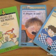 Libros de segunda mano: EL DRAGÓN DE JANO, GAFITAS, LA GALLINA QUE PUDO SER PRINCESA. Lote 125829420