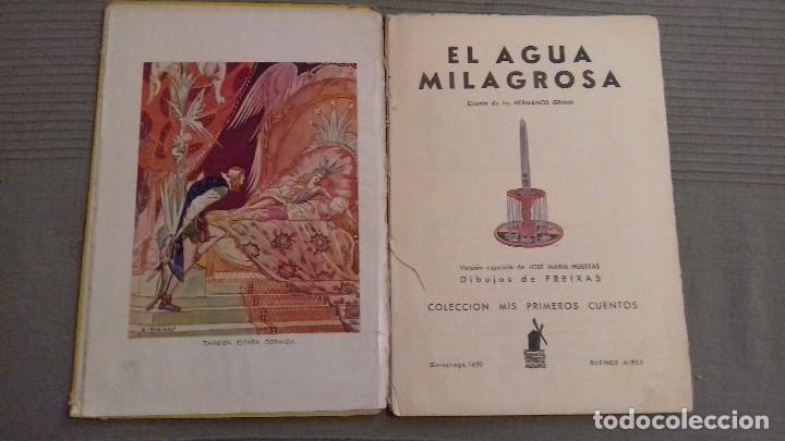 Libros de segunda mano: El agua milagrosa y los dos aprendices. 1a ed 1938. Hermanos Grimm. Ed Molino. Dibujos FREIXAS. - Foto 3 - 126069967