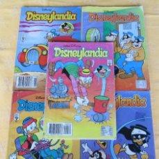 Libros de segunda mano: NUEVE EJEMPLARES DE DISNEYLANDIA. Lote 126357655