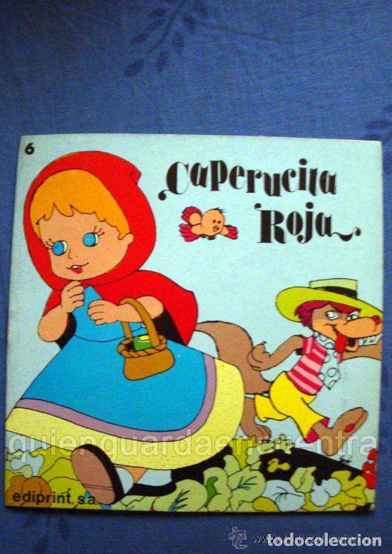 5 APRENDIZ BRUJO-GATO CON BOTAS-FLAUTISTA-PULGARCITO-CAPERUCITA-EDIPRINT-1983 TEO PUEBLA (Libros de Segunda Mano - Literatura Infantil y Juvenil - Cuentos)