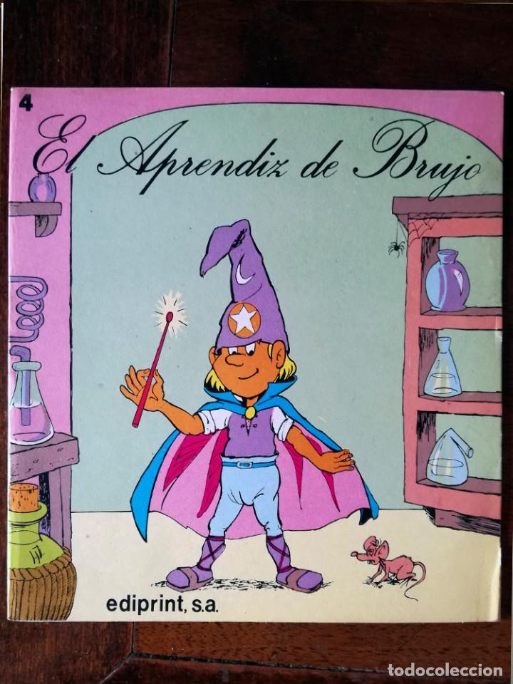 Libros de segunda mano: 5 Aprendiz brujo-gato con botas-Flautista-Pulgarcito-Caperucita-ediprint-1983 Teo Puebla - Foto 2 - 126814219