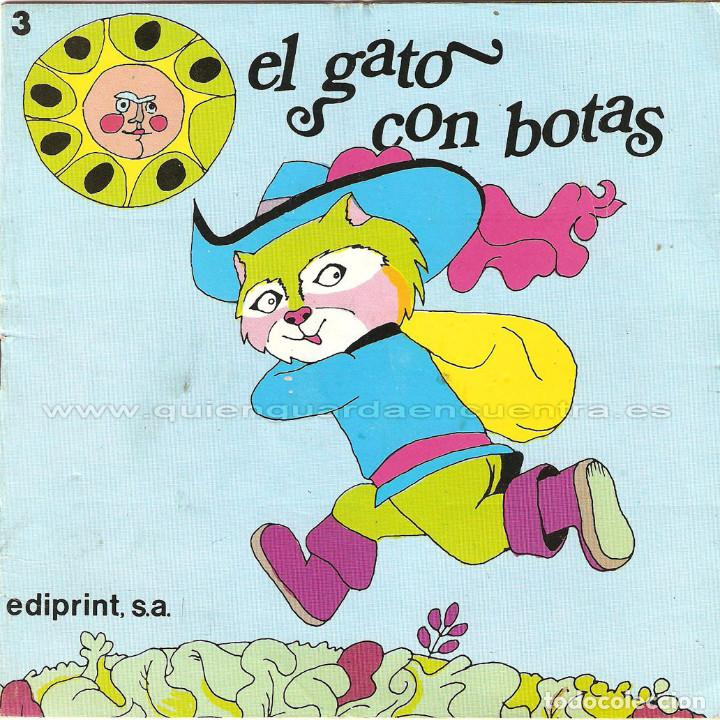 Libros de segunda mano: 5 Aprendiz brujo-gato con botas-Flautista-Pulgarcito-Caperucita-ediprint-1983 Teo Puebla - Foto 3 - 126814219