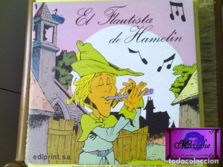 Libros de segunda mano: 5 Aprendiz brujo-gato con botas-Flautista-Pulgarcito-Caperucita-ediprint-1983 Teo Puebla - Foto 4 - 126814219