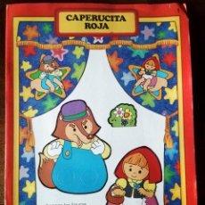 Libros de segunda mano: CUENTO TÍTERE CAPERUCITA ROJA DIBUJOS DE BUSQUETS CON TEATRO PARA MONTAR. Lote 126908427