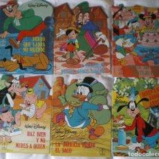 Libros de segunda mano: GILITO-DONALD-PINOCHO-GOOFY-DISNEY-TORAY. SERIE M-Nº 3-4-5-6-7-8 LOTE 6 CUENTOS NUEVOS 1984. Lote 146094720