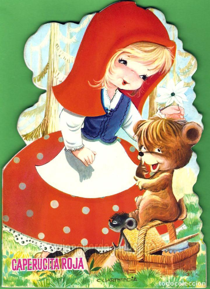 CAPERUCITA ROJA-DIBUJOS C. GARMENDIA-CUENTOS POPULARES TROQUELADOS AÑOS 80 NUEVO (Libros de Segunda Mano - Literatura Infantil y Juvenil - Cuentos)
