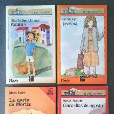 Libros de segunda mano: PATATITA JOSEFINA CINCO DÍAS DE AGOSTO LA NARIZ DE MORITZ EL BARCO DE VAPOR. Lote 128717971
