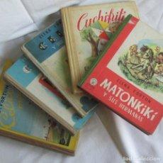 Libros de segunda mano: 5 VOLÚMENES DE ELENA FORTUN CELIA MADRECITA, INSTITUTRIZ, Y SUS AMIGOS, CUCHIFRITÍN, MATONKIKI. Lote 128912843