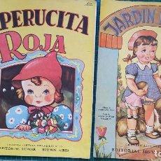Libros de segunda mano: CUENTOS CAPERUCITA ROJA Y JARDIN INFANTIL ED. SIGMAR BUENOS AIRES FINALES 40'S. Lote 129106799
