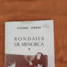 Libros de segunda mano: RONDAIES DE MENORCA. Lote 129448495
