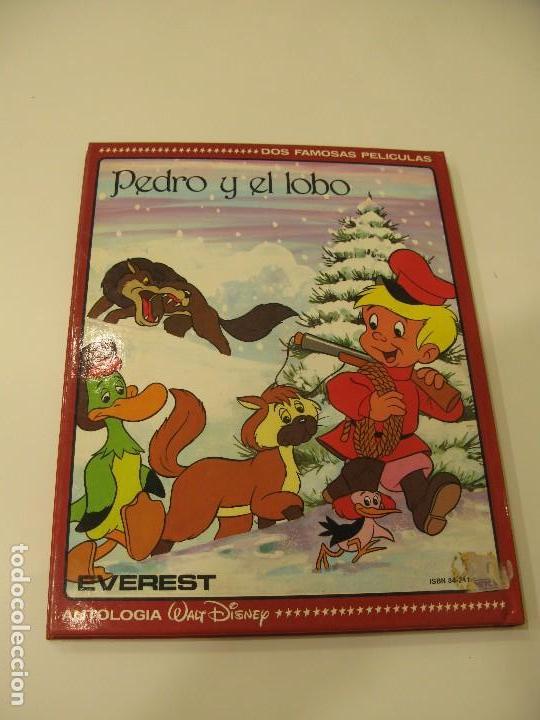 Libros de segunda mano: Antología Walt Disney. Basil el ratón superdetective y Pedro y el lobo. Editorial Everest - Foto 2 - 129457151
