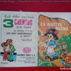 Libros de segunda mano: TUBAL CUENTO LA RATITA BUENA TORAY 21 CM 190 GRS. Lote 129710535