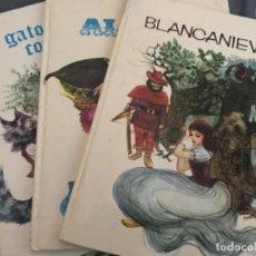 Libros de segunda mano: LOTE ANTIGUOS CUENTOS BLANCANIEVES EL GATO CON BOTAS ALADINO COLECCIONES RUBÍ . Lote 129714659