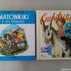 Libros de segunda mano: LOTE DE 2 DE ELENA FORTUN.LIBROS MATONKIKÍ Y SUS HERMANAS Y CUCHIKITIN EN CASA DE SU ABUELO.. Lote 130005507