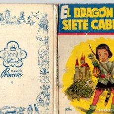 Libros de segunda mano: EL DRAGON DE LAS SIETE CABEZAS. CUENTOS PRINCESA. Nº 4. EDITORIAL CIES, VIGO. Lote 130491814