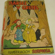 Libros de segunda mano: LIBRO, CUENTO HANSEL Y GRETEL, CON TROQUELADO DESPLEGABLE, ILUSTRACIÓN SORPRESA, POP UP, ED. MOLINO. Lote 131144511