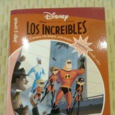 Libros de segunda mano: DISNEY JUEGO Y APRENDO LOS INCREÍBLES -EVEREST 2006- NUEVO, PERFECTO (PEGATINAS...). Lote 131643438