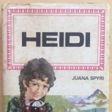Libros de segunda mano: HEIDI. JUANA SPYRI. EDITORIAL BRUGUERA EDIC.1975. Lote 131791834