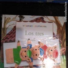 Libros de segunda mano: TEATRO Y CUENTOS 3 MARIONETAS PARA REPRESENTAR - EDICIONES FOLIO - LOS TRES 3 CERDITOS. Lote 133468370