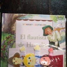 Libros de segunda mano: TEATRO Y CUENTOS 3 MARIONETAS PARA REPRESENTAR - EDICIONES FOLIO - EL FLAUTISTA DE HAMELIN. Lote 133468630