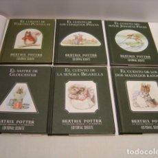 Libros de segunda mano: LOS LIBROS ORIGINALES DE PERICO EL CONEJO TRAVIESO - BEATRIX POTTER - EDITORIAL DEBATE -LOTE DE SEIS. Lote 134775302