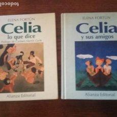 Libros de segunda mano: CELIA Y SUS AMIGOS/CELIA LO QUE DICE- ELENA FORTÚN.. Lote 137832766