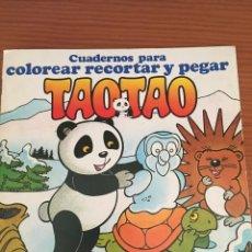 Libros de segunda mano: LIBRO INFANTIL TAO TAO. CUADERNOS PARA COLOREAR, RECORTAR Y PEGAR. PARRAMÓN. 1985. Lote 138874506