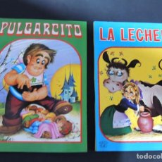 Libros de segunda mano: PULGARCITO - LA LECHERA ( SERIE VOLUMEN - COMPLETA ) 2 DIORAMAS / ILUSTRA - MAGDA / C Y Z 1984. Lote 138936826