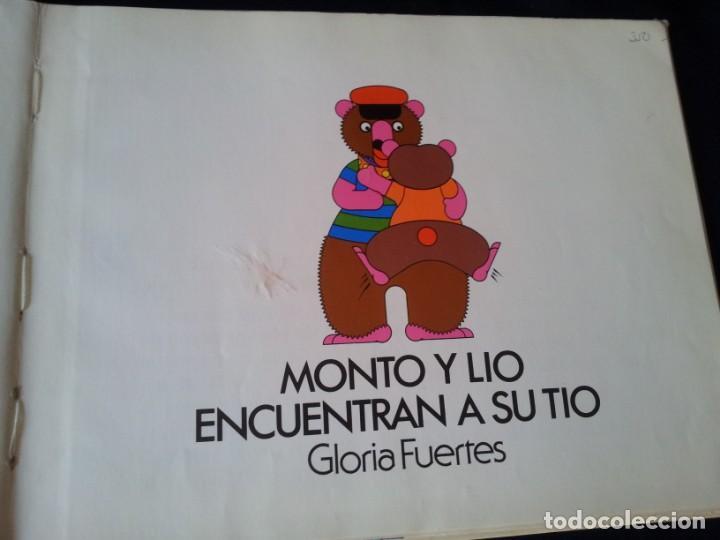 Libros de segunda mano: GLORIA FUERTES - MONTO Y LIO ENCUENTRAN A SU TIO Nº 3 - EDIT MONTOLIO, ILUSTRACIONES JUAN TUDELA - Foto 5 - 139053742