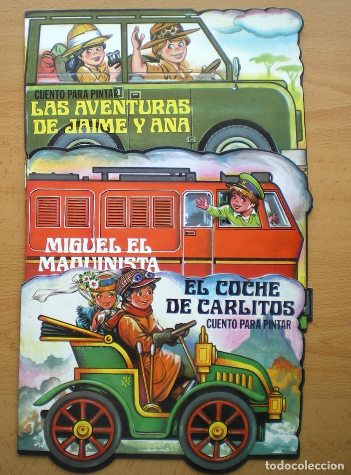Libros de segunda mano: CUENTOS TROQUELADOS ESCRIBIR-PINTAR MIGUEL-CARLITOS-JAIME-ANA-JUANITO EDITORIAL GAVIOTA 1986 NUEVO - Foto 2 - 139085086