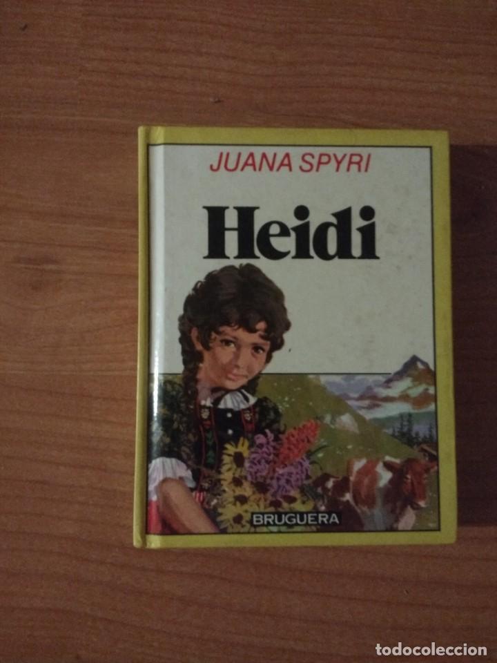HEIDI (MINILIBRO). JUANA SPYRI. EDITORIAL BRUGUERA. TAPA DURA (Libros de Segunda Mano - Literatura Infantil y Juvenil - Cuentos)