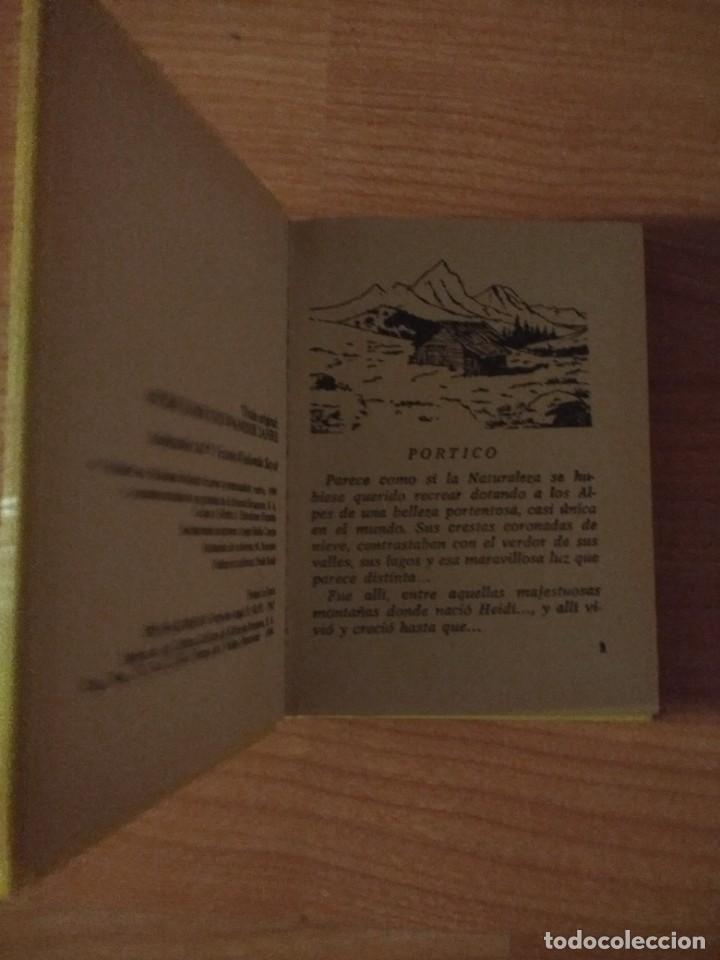 Libros de segunda mano: HEIDI (MINILIBRO). JUANA SPYRI. EDITORIAL BRUGUERA. TAPA DURA - Foto 2 - 139884518
