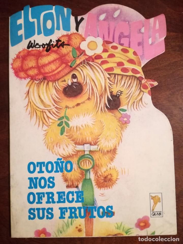 LOS WOOFITS ELTON Y ANGELA CUENTO TROQUELADO GAMA 1984 NUEVO OTOÑO NOS OFRECE SUS FRUTOS (Libros de Segunda Mano - Literatura Infantil y Juvenil - Cuentos)