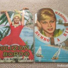 Libros de segunda mano: MARISOL RUMBO A RIO Y POLIZÓN A BORDO, DOS CUENTOS TROQUELADOS DE FHER, 1963. Lote 140133370