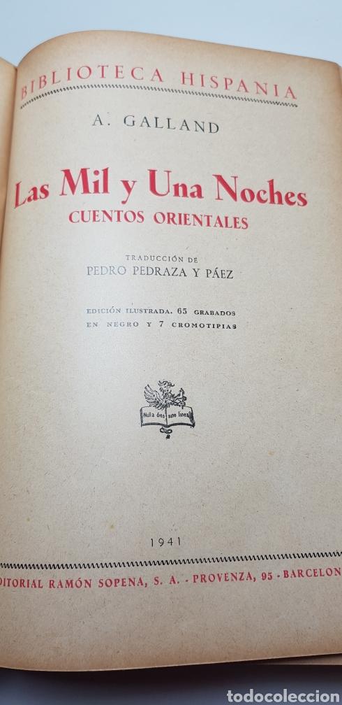Libros de segunda mano: Las mil y una noches, Sopena 1941. - Foto 2 - 140161776