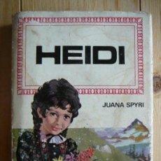 Libros de segunda mano: HEIDI. JUANA SPYRI. 1º EDICIÓN. 1968. EDITORIAL BRUGUERA. HISTORIAS INFANTIL.. Lote 140277538