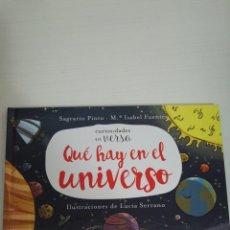 Libros de segunda mano: QUE HAY EN EL UNIVERSO- CURIOSIDADES EN VERSO- ANAYA. Lote 140353757