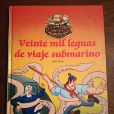 Libros de segunda mano: LIBRO Nº 3 VEINTE MIL LEGUAS VIAJE SUBMARINO-JULIO VERNE-CLASICOS AVENTURA-PLANETA-AGOSTINI-1990 NUE. Lote 140882490