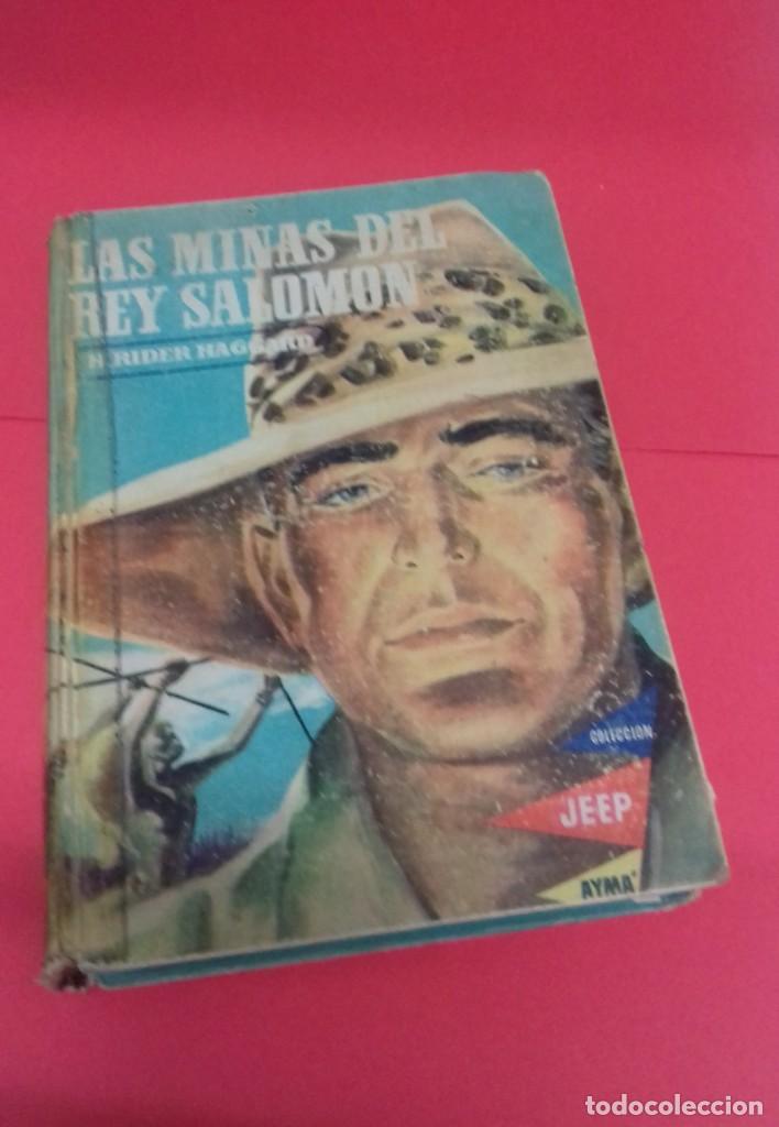 LAS MINAS DEL REY SALOMÓN / H. RIDER HAGGARD. COLECCIÓN JEEP. AYMÁ. ILUSTRACIONES NOGUERAS. 1955. (Libros de Segunda Mano - Literatura Infantil y Juvenil - Cuentos)