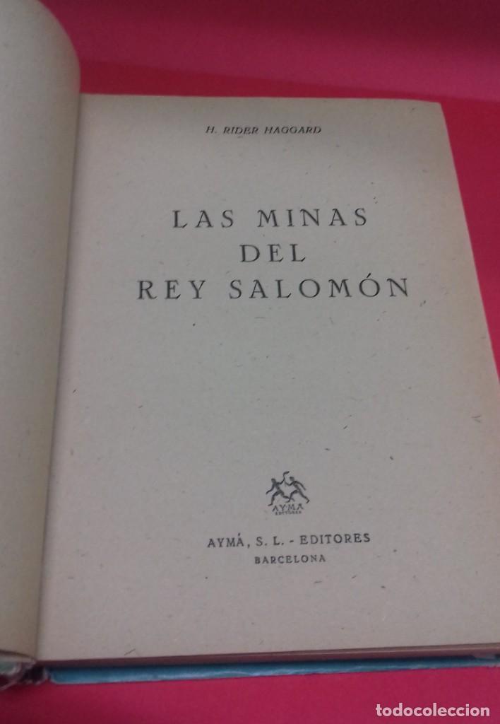 Libros de segunda mano: Las minas del Rey Salomón / H. Rider Haggard. Colección Jeep. Aymá. Ilustraciones Nogueras. 1955. - Foto 5 - 141848378