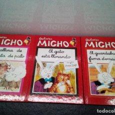 Libros de segunda mano: LECTURAS MICHO-LA GALLINA DE LA PARO DE PALO-EL GATO ESTÁ LLORANDO-EL GUARDABOSQUE... (ENVÍO 4,31€). Lote 142107654
