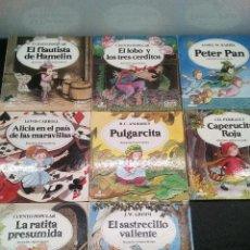Libros de segunda mano: CUENTOS CLASICOS:FLAUTISTA DE HAMELIN/LOS TRES CERDITOS/PETER PAN/CAPERUCITA ROJA, ETC (ENVÍO 4,31€). Lote 142110858