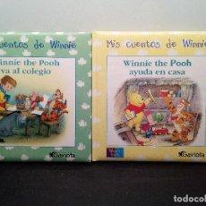 Libros de segunda mano: MIS CUENTOS DE WINNIE - WINNIE THEPOOH VA AL COLEGIO - WINNIE THE POOH AYUDA EN CASA (ENVÍO 4,31€). Lote 142925686