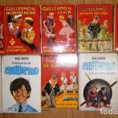 Libros de segunda mano: LOTE AVENTURAS DE GUILLERMO 12T POR RICHMAL CROMPTON DE ED. MOLINO EN BARCELONA 1969. Lote 24709240
