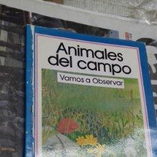 Libros de segunda mano: ANIMALES DEL CAMPO. VAMOS A OBSERVAR.. Lote 144626461