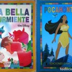 Libros de segunda mano: LA BELLA DURMIENTE Y POCAHONTAS PRINCESAS DISNEY EDICIONES GAVIOTA 1995. Lote 143405798