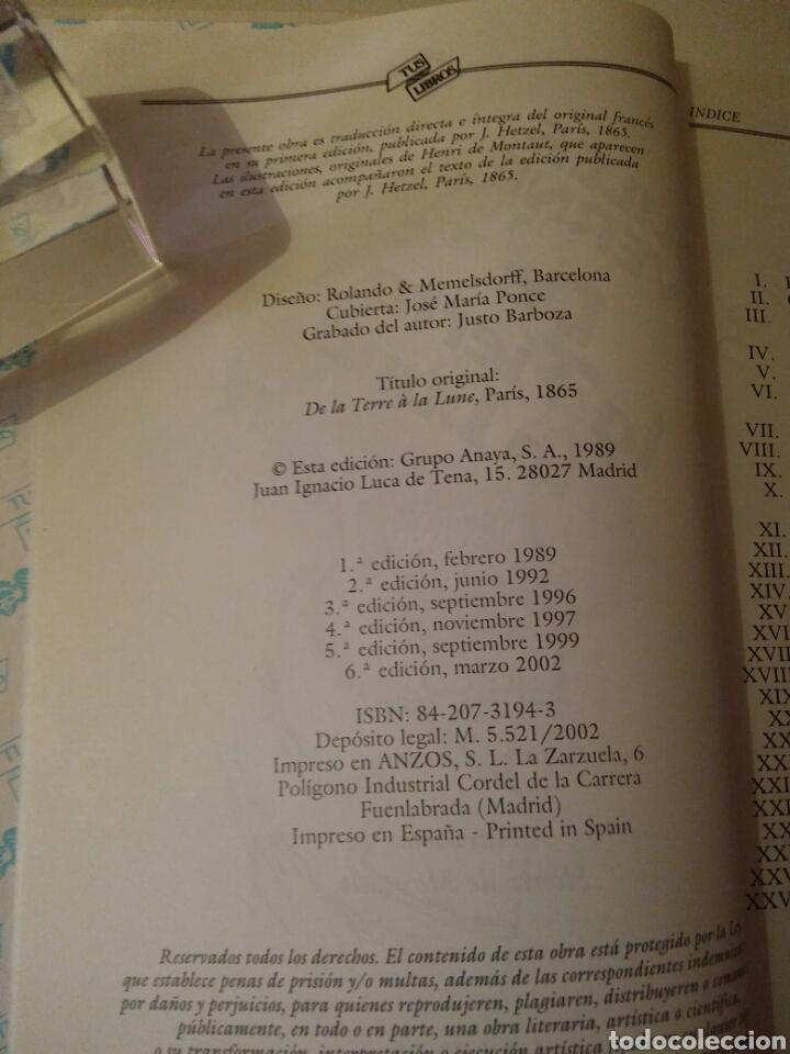 Libros de segunda mano: Colección-TUS LIBROS-ANAYA-Año1980-JULES VERNE DE LA TIERRA A LA LUNA-N.84 - Foto 8 - 146653729