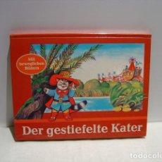 Libros de segunda mano: DER GESTIEFELTE KATER - EL GATO CON BOTAS - POP UP KUBASTA - AVENTINUM PRAGA 1991. Lote 147223082
