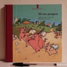 Libros de segunda mano: LIBRO - ELS TRES PORQUETS - INFANTIL - ED. LA GALERA - EN CATALAN. Lote 147791294